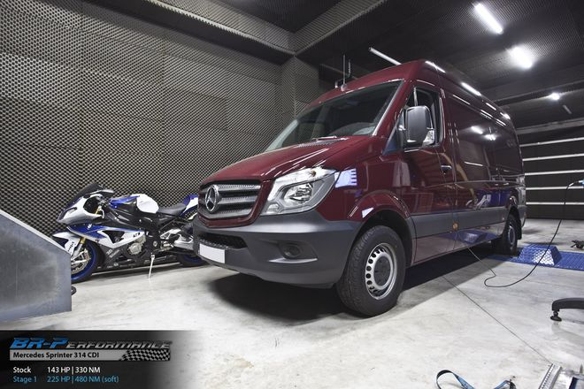 mercedes sprinter w906 214  314 cdi stage 1